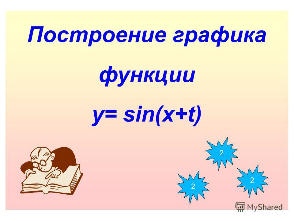 Построение графика функции y= sin(x+t) 2 2 2