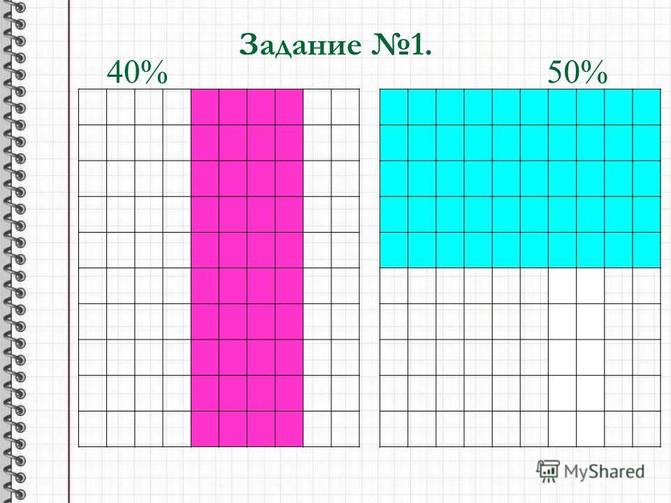 Задание 1. 40%50%
