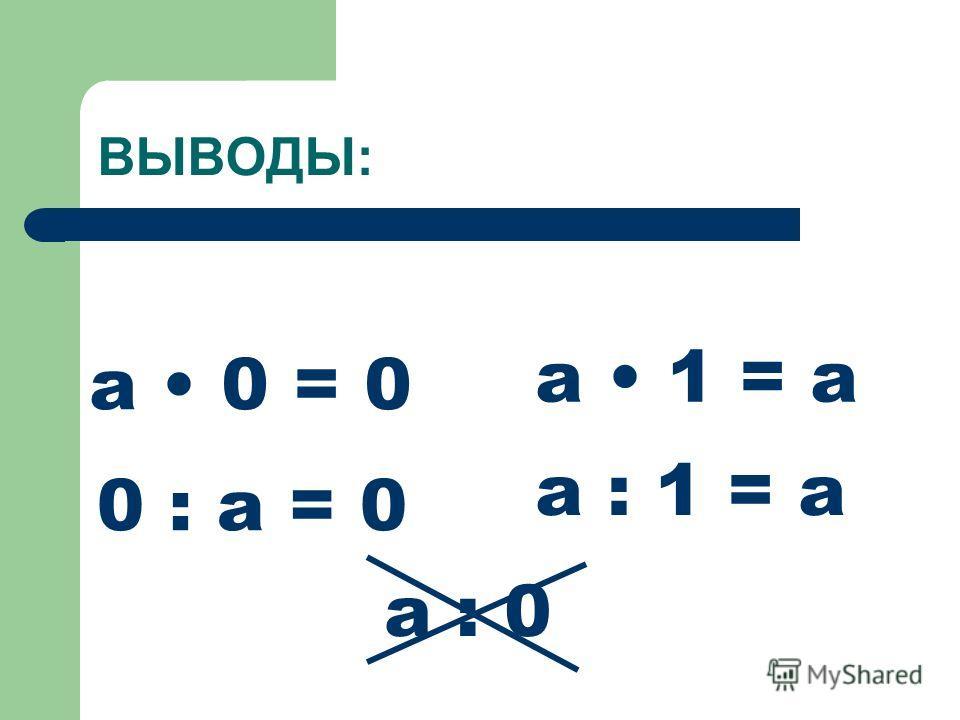 Как разделить 63 на 9 с помощью таблицы умножения? 7 9 = 63 63 : 9 = 7 Что значит разделить число на 9? Как найти девятую часть числа? Как умножить 9 на 0? 9 на 1 ? Как разделить 0 на 9? 9 на 1 ? 7 63 9 : 9