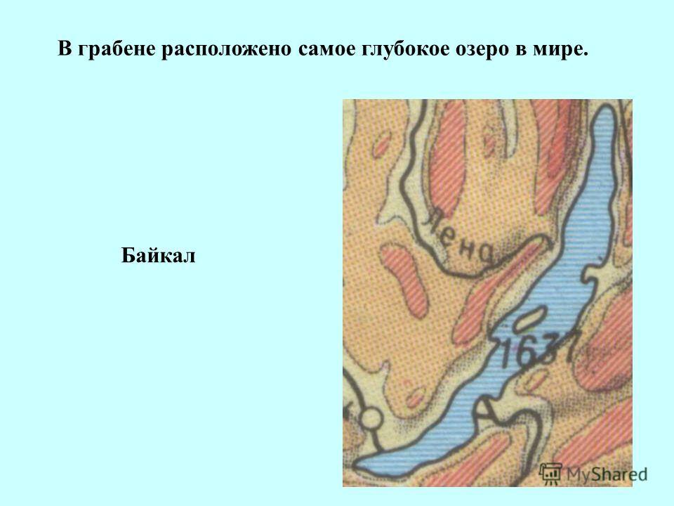 В грабене расположено самое глубокое озеро в мире. Байкал