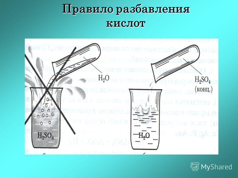 Правило разбавления кислот
