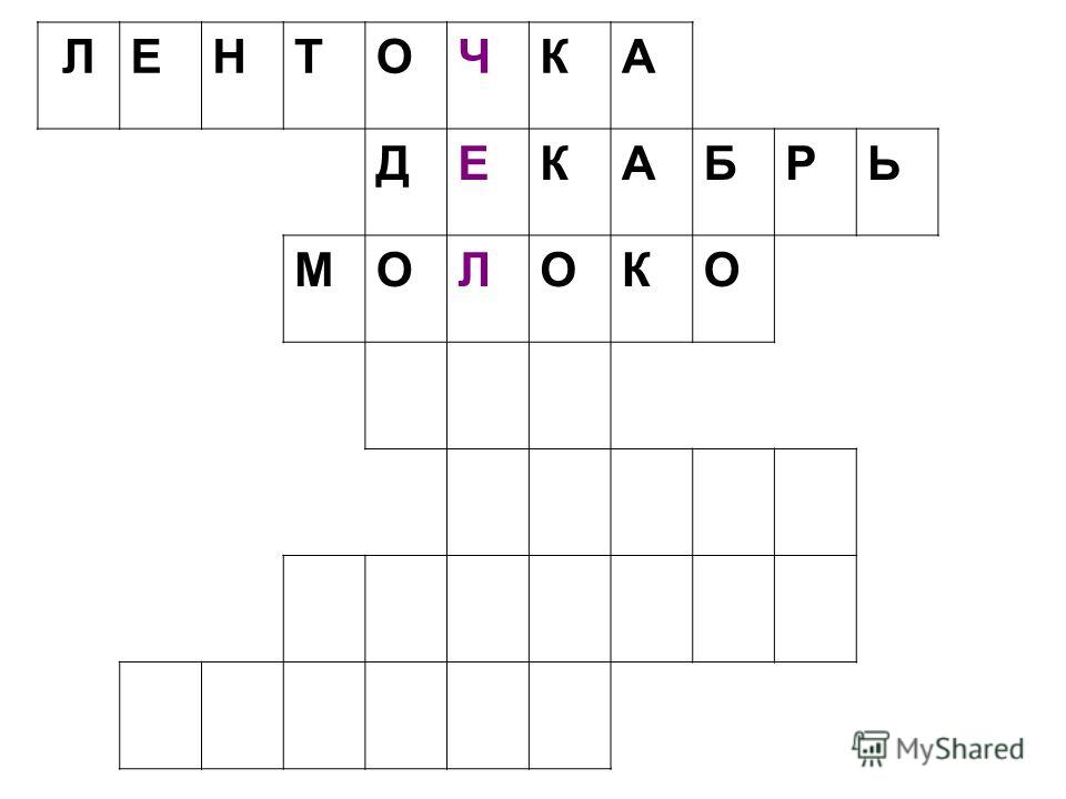 ЛЕНТОЧКА ДЕКАБРЬ МОЛОКО