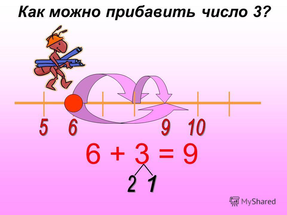 6 + 3 = 9 Как можно прибавить число 3?
