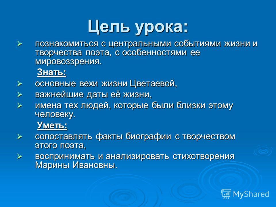 Марина Цветаева: личность и судьба