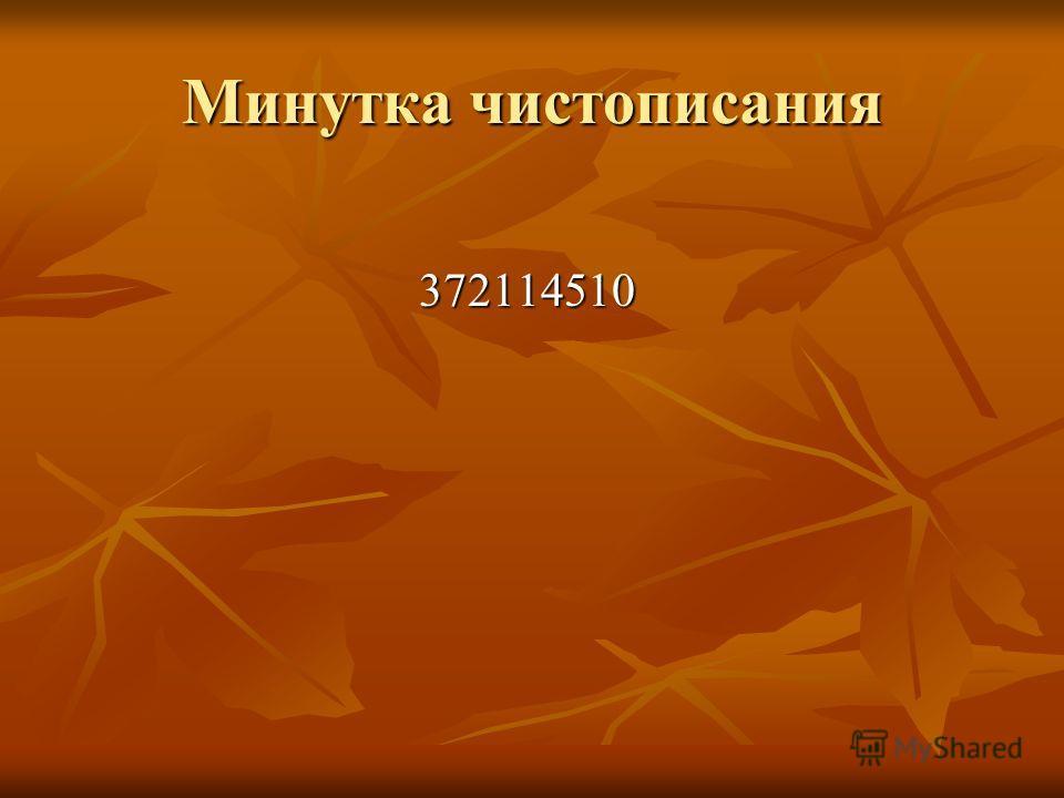 Минутка чистописания 372114510 372114510