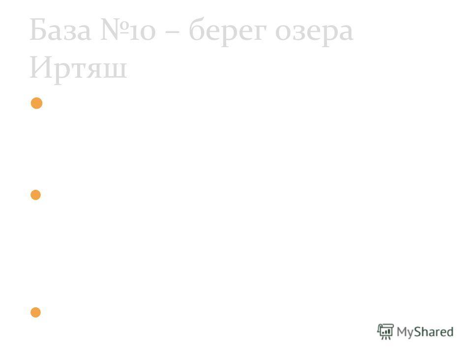1940 г. – «Урановая комиссия» 1942 г. - И.В.Сталин принял решение о создании атомной бомбы 1943 г. – создание атомного оружия База 10 – берег озера Иртяш