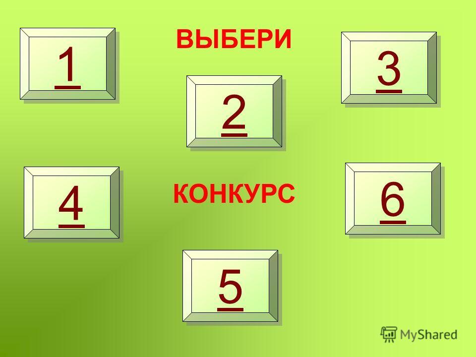 1 1 2 2 3 3 4 4 5 5 6 6 ВЫБЕРИ КОНКУРС