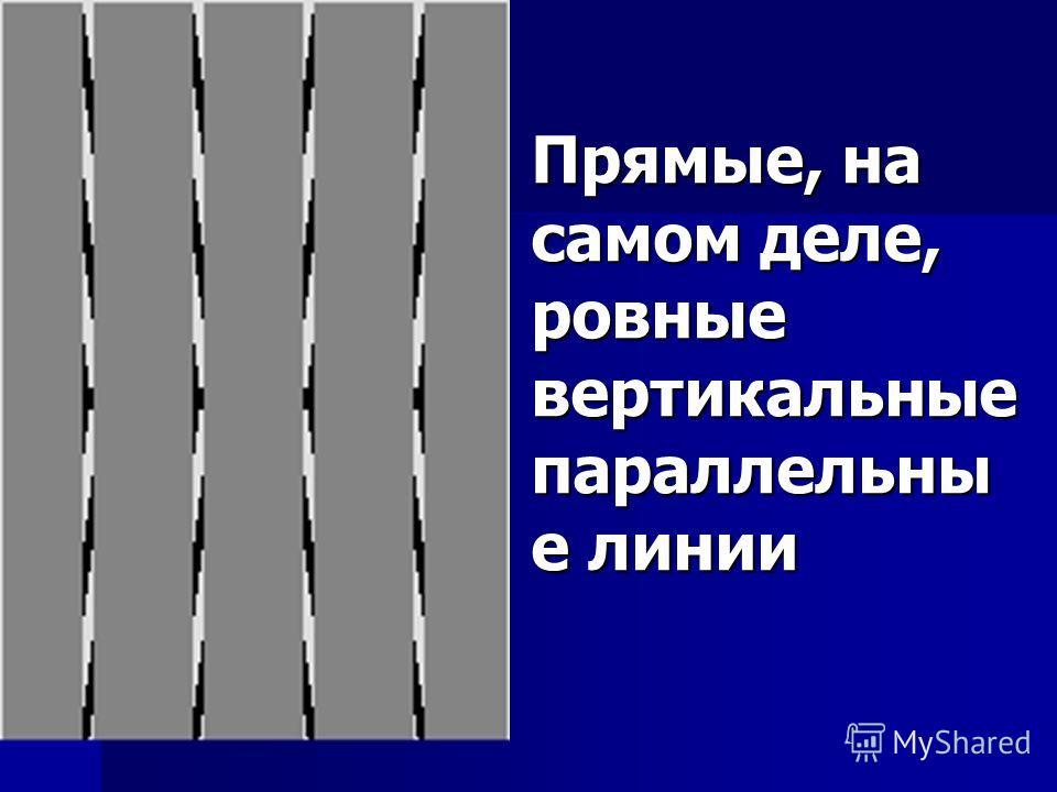 Прямые, на самом деле, ровные вертикальные параллельны е линии