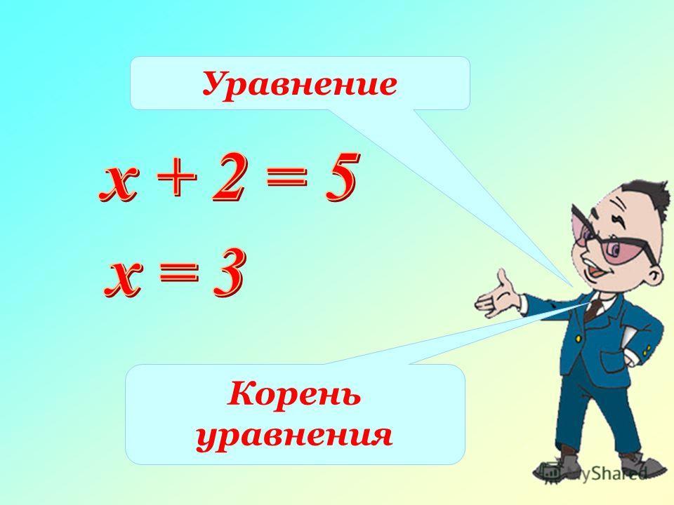 Уравнение Корень уравнения