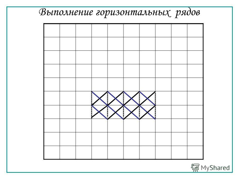 Выполнение горизонтальных рядов