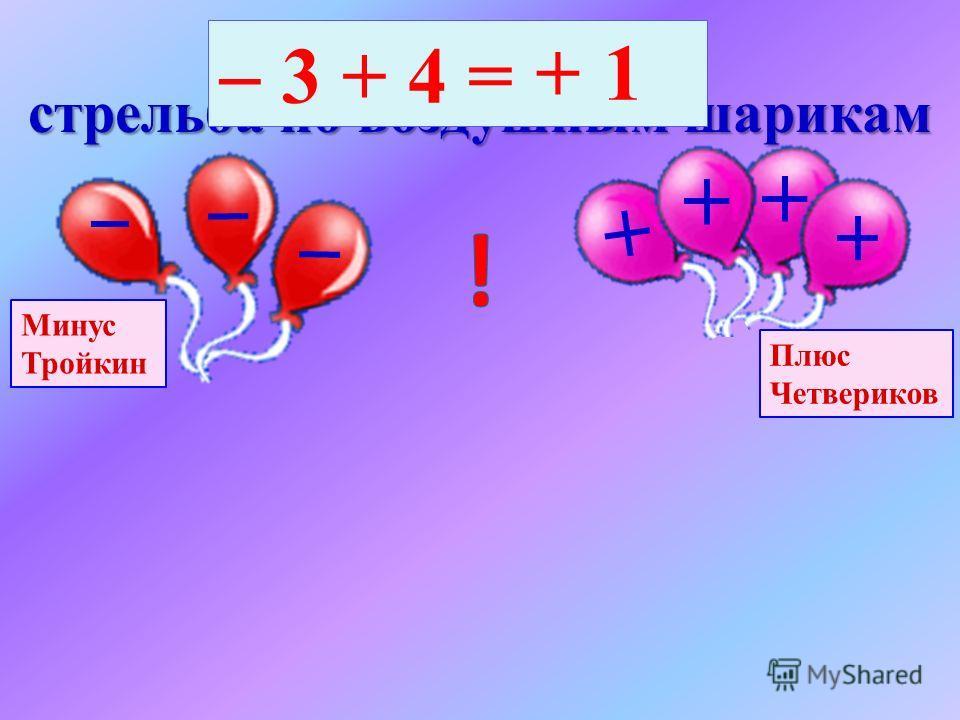 Финал конкурса по перетягиванию каната Иван Минусов Петр Плюсов2 7 + 5 = 2 -7 +5+5