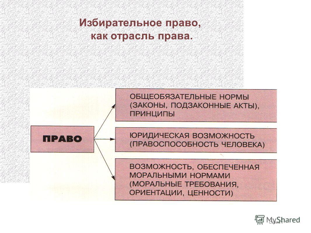 Избирательное право, как отрасль права. Схема 1