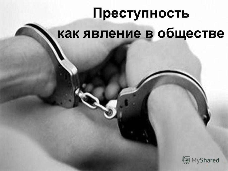 Преступность как явление в обществе