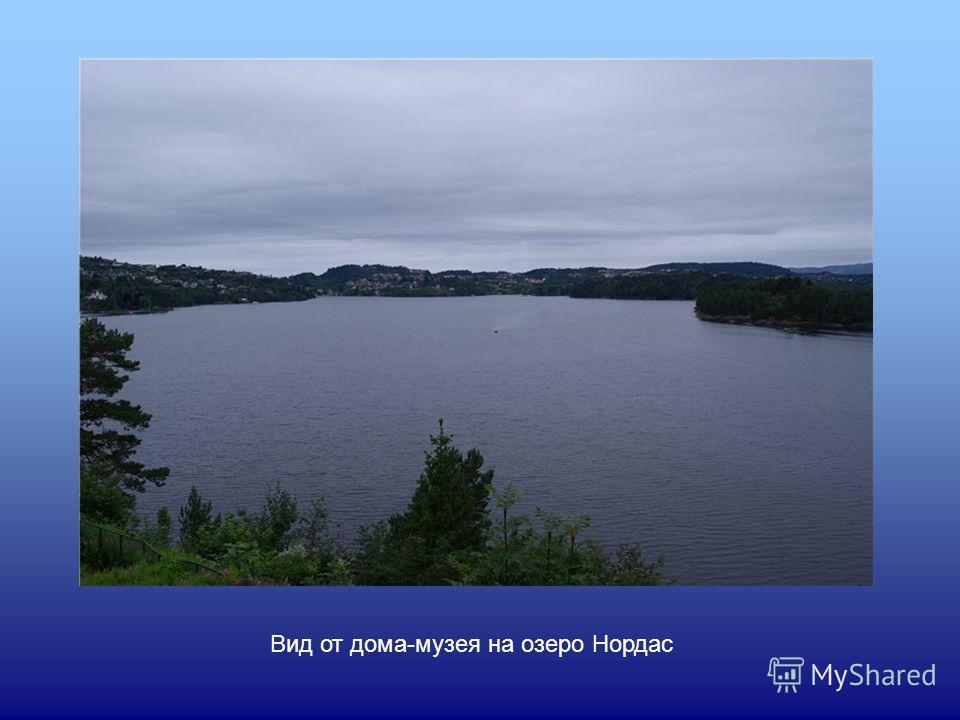 Вид от дома-музея на озеро Нордас