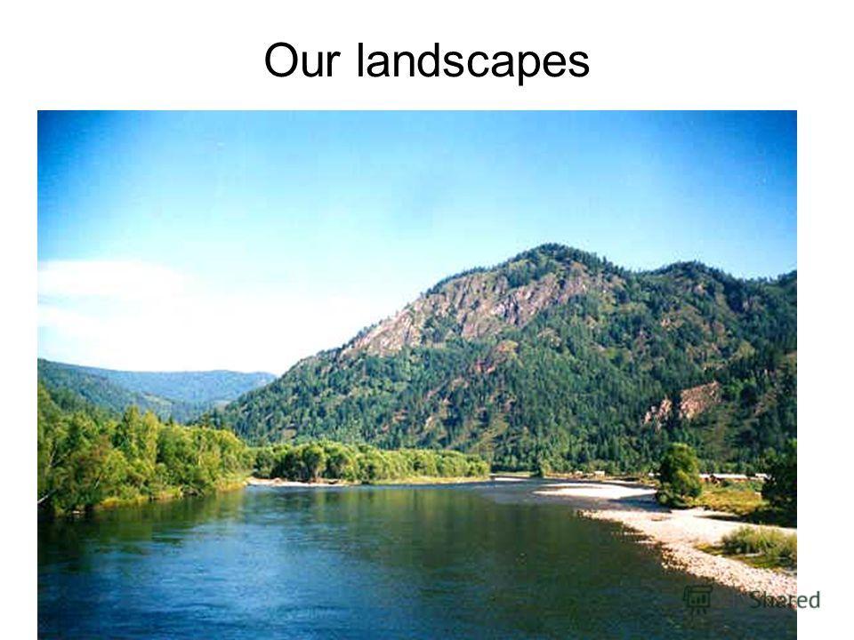 Our landscapes