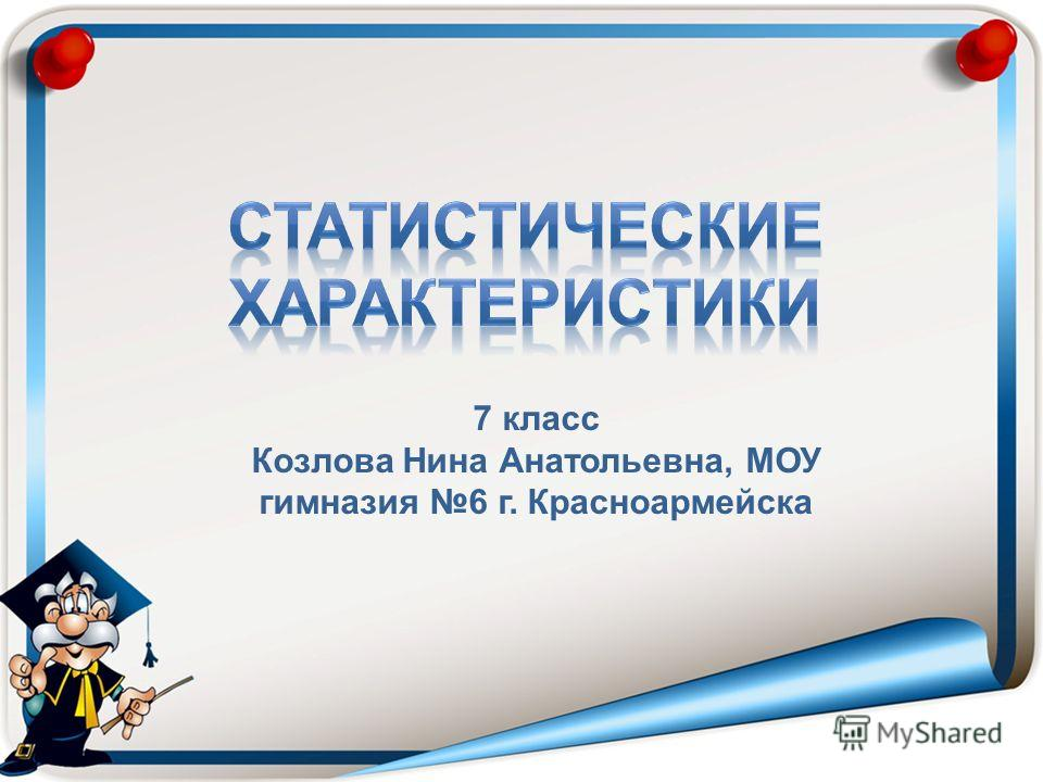 7 класс Козлова Нина Анатольевна, МОУ гимназия 6 г. Красноармейска