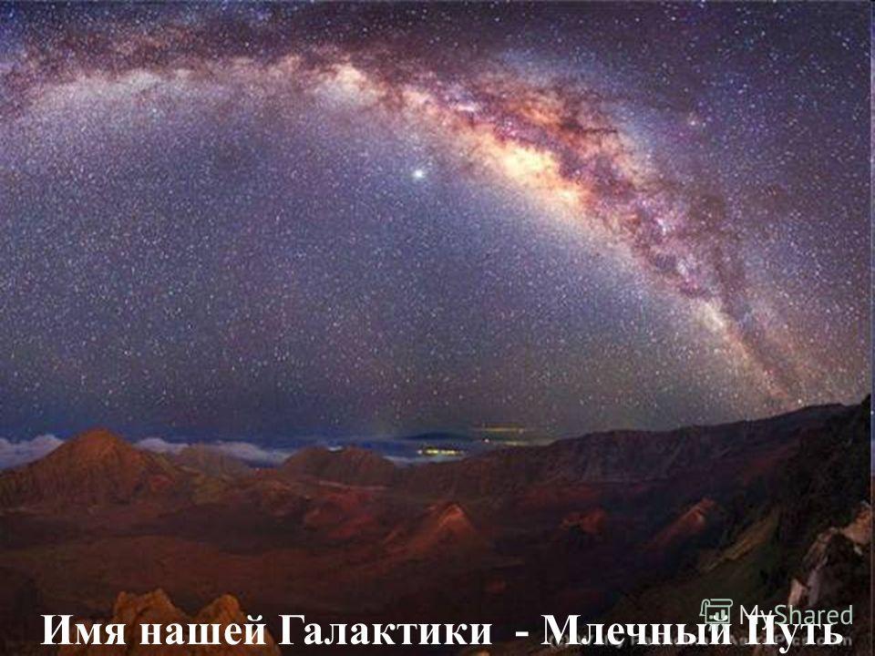 Имя нашей Галактики - Млечный Путь