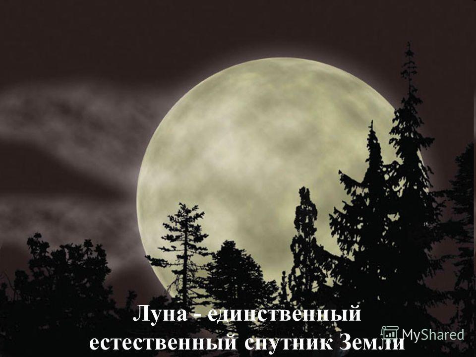 Луна - единственный естественный спутник Земли