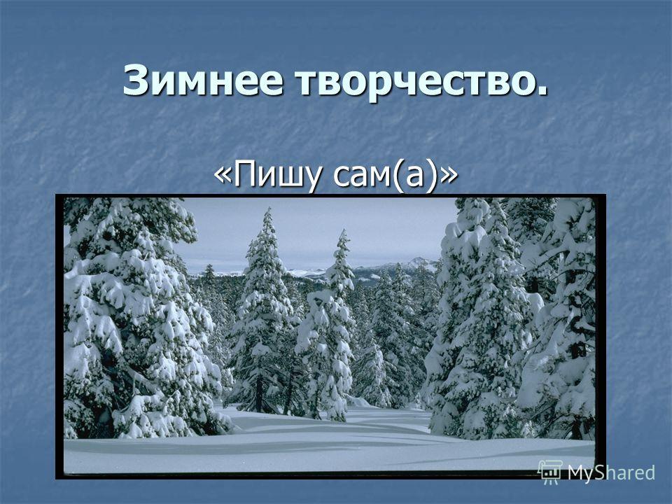Зимнее творчество. «Пишу сам(а)»