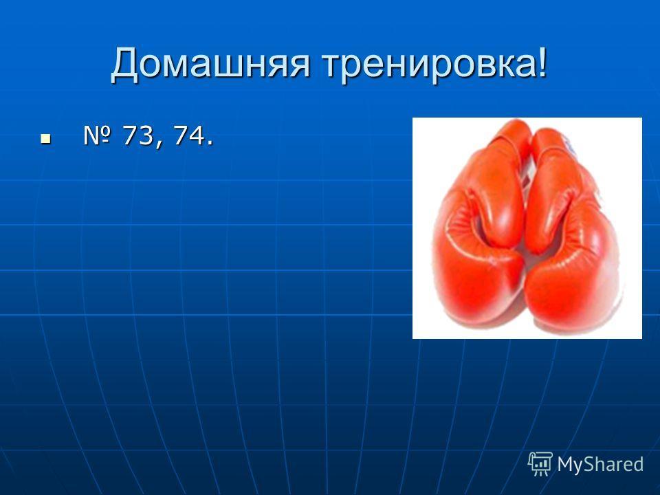 Домашняя тренировка! 73, 74. 73, 74.