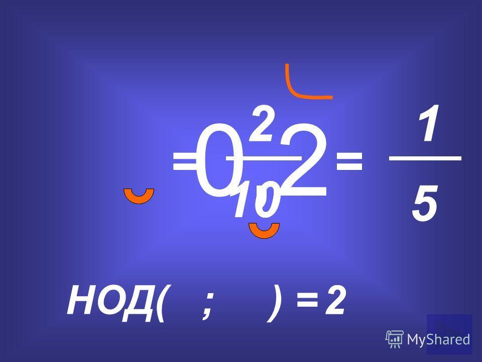 0,2 = 2 10 НОД( ; ) =2 = 1 5 2 2 10