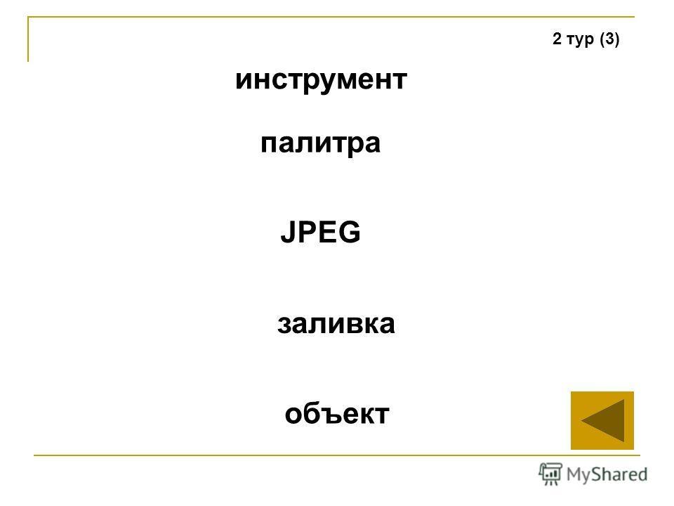 2 тур (3) инструмент JPEG заливка объект палитра