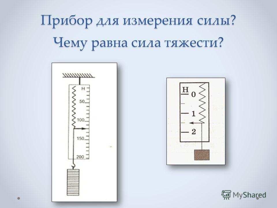 Прибор для измерения силы? Чему равна сила тяжести?