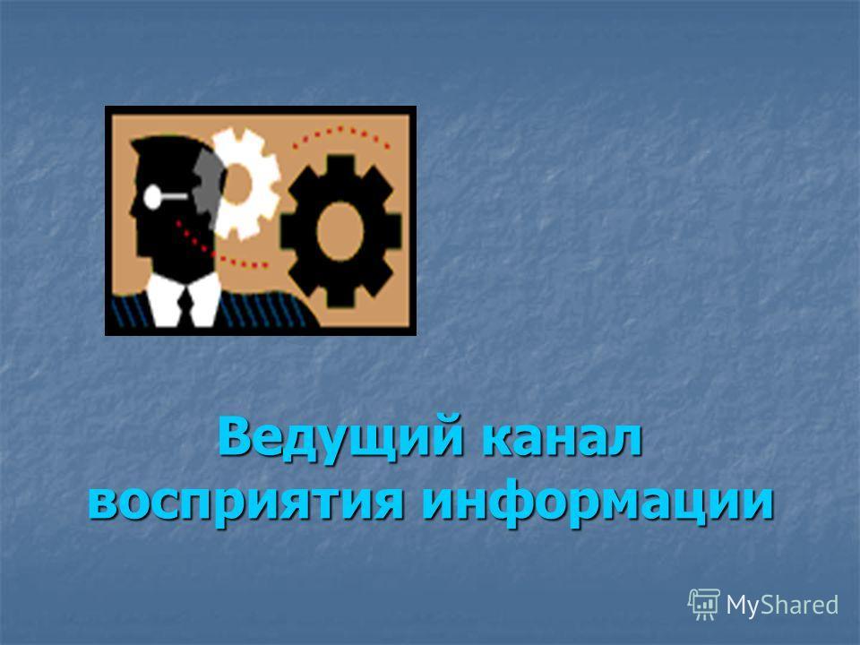 Ведущий канал восприятия информации
