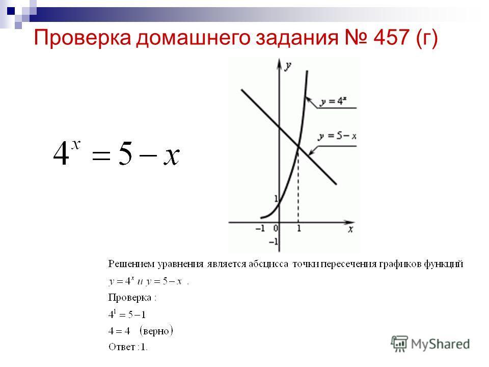 Проверка домашнего задания 457 (г)