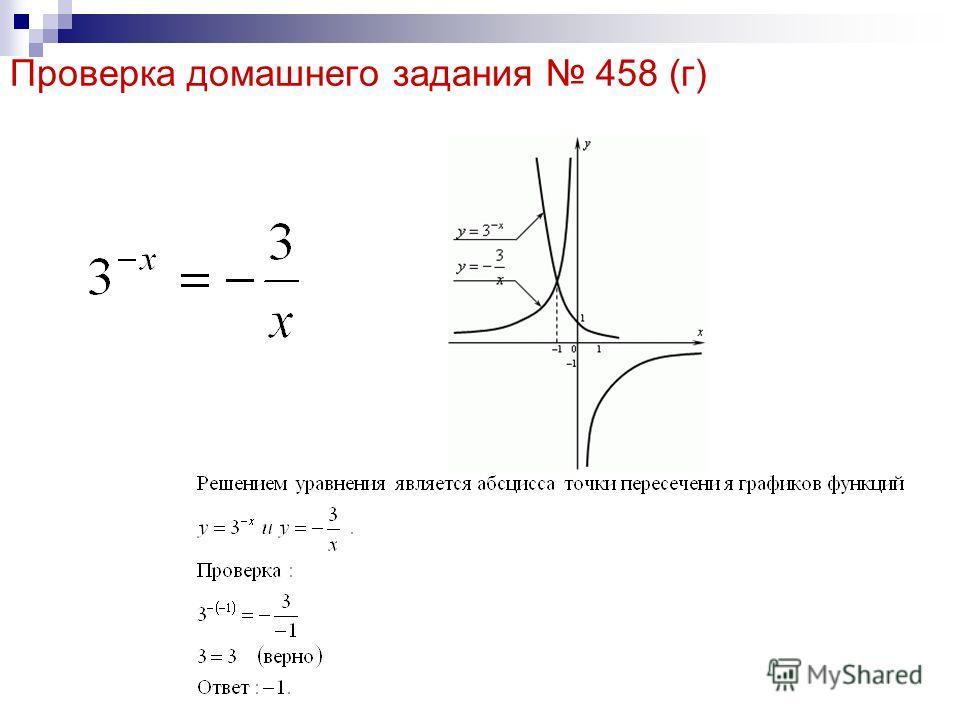 Проверка домашнего задания 458 (г)