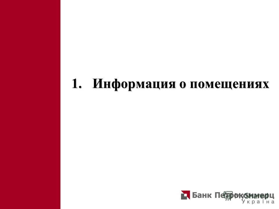 1. Информация о помещениях