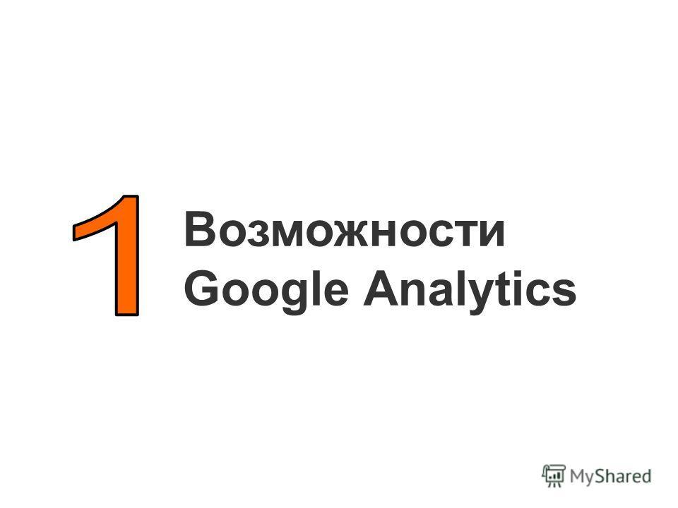 Возможности Google Analytics