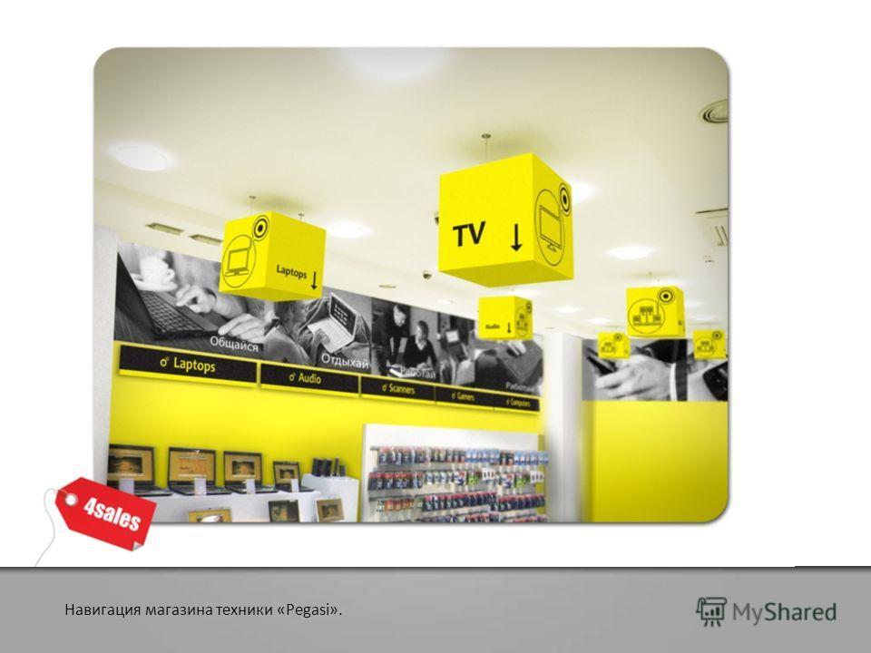 Навигация магазина техники «Pegasi».