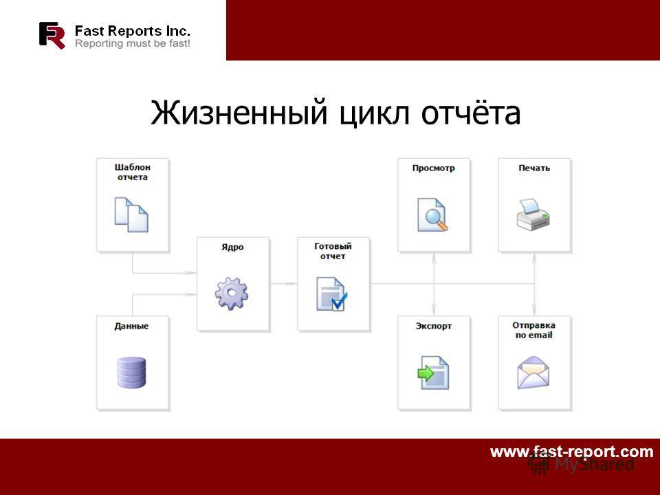 www.fast-report.com Жизненный цикл отчёта