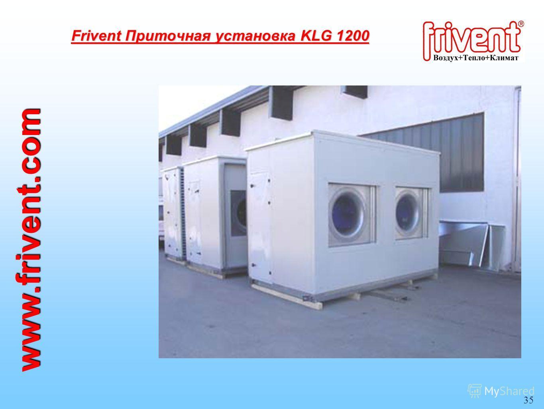 35 www.frivent.com Frivent Приточная установка KLG 1200