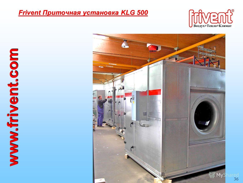 36 Frivent Приточная установка KLG 500 www.frivent.com