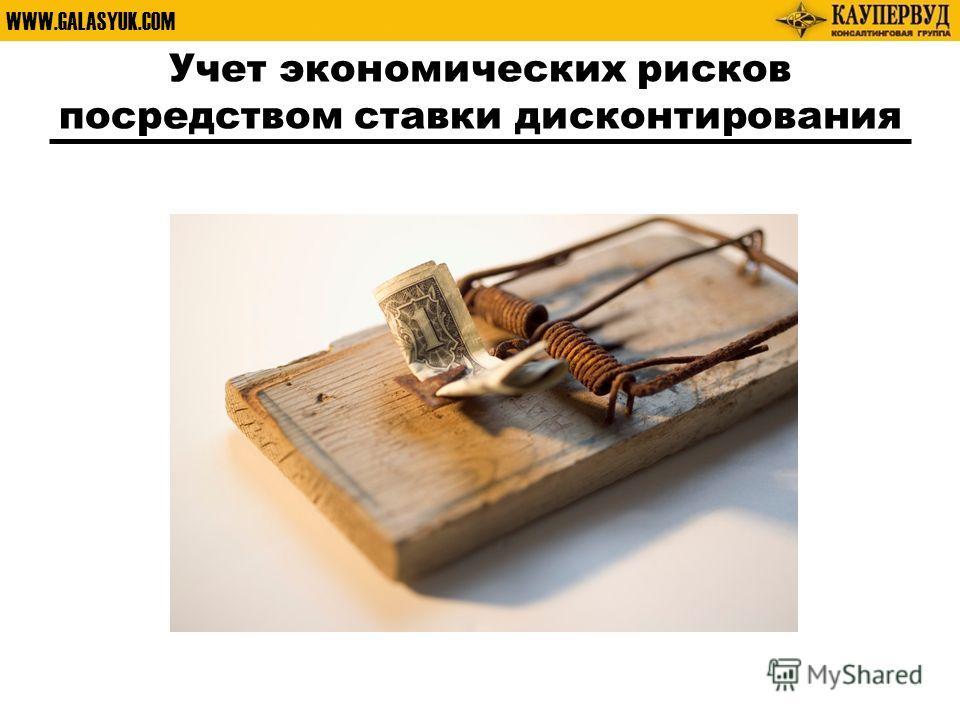 WWW.GALASYUK.COM Учет экономических рисков посредством ставки дисконтирования