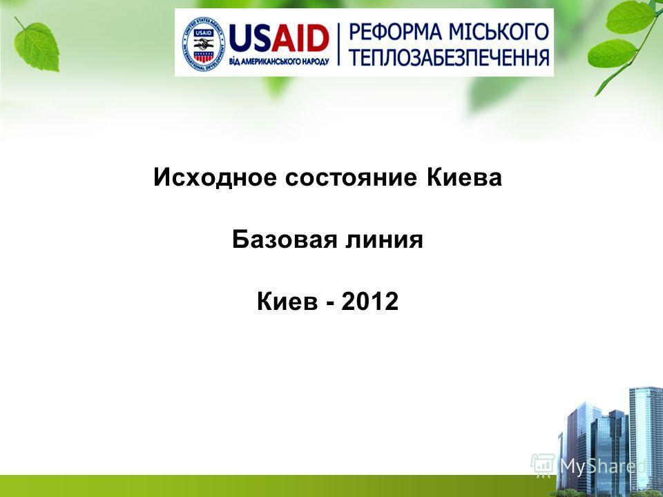 Исходное состояние Киева Базовая линия Киев - 2012