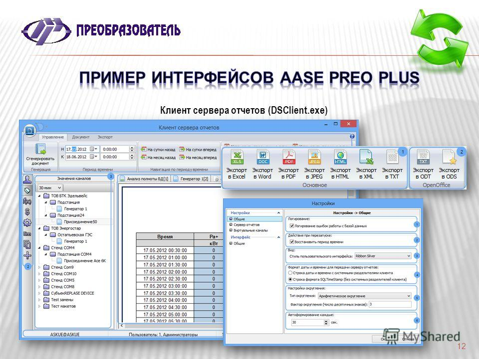 12 Клиент сервера отчетов (DSClient.exe)