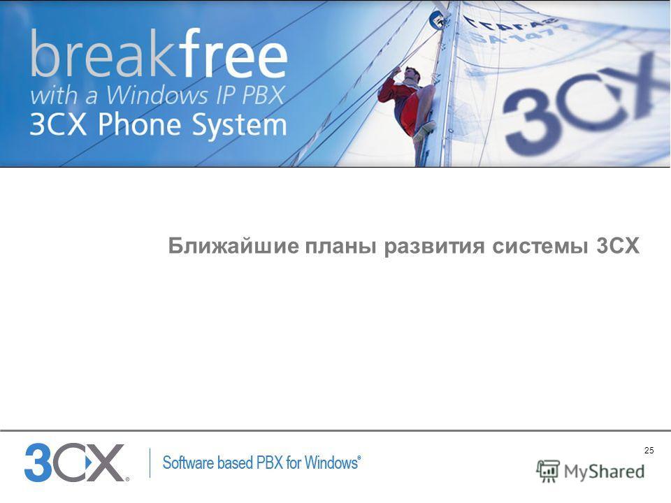 25 Copyright © 2002 ACNielsen a VNU company Ближайшие планы развития системы 3CX