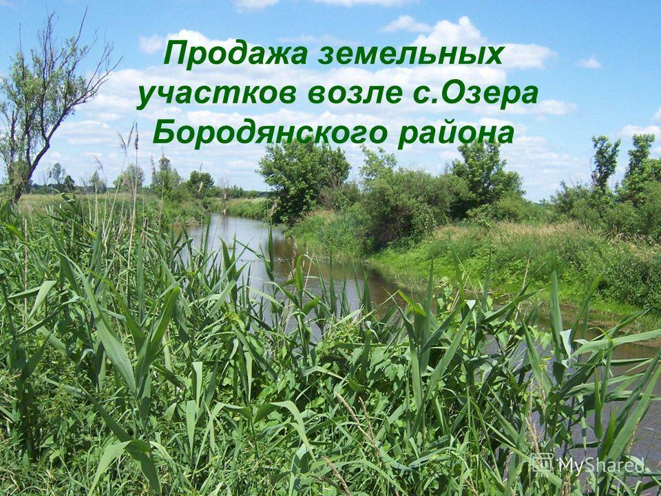Продажа земельных участков возле с.Озера Бородянского района