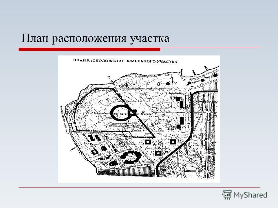 План расположения участка