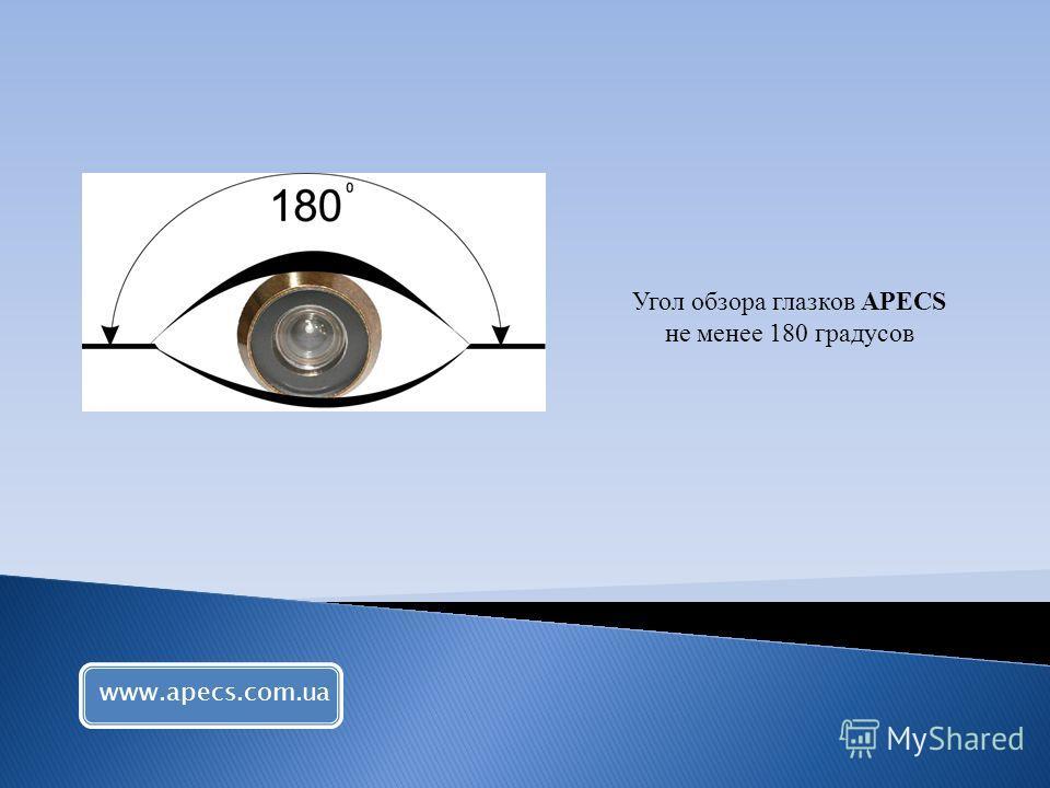 Угол обзора глазков APECS не менее 180 градусов www.apecs.com.ua