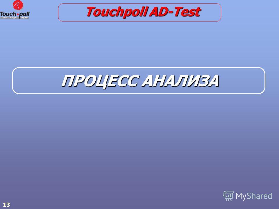 13 ПРОЦЕСС АНАЛИЗА Touchpoll AD-Test