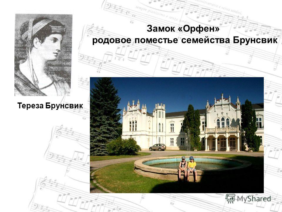 Тереза Брунсвик Замок «Орфен» родовое поместье семейства Брунсвик