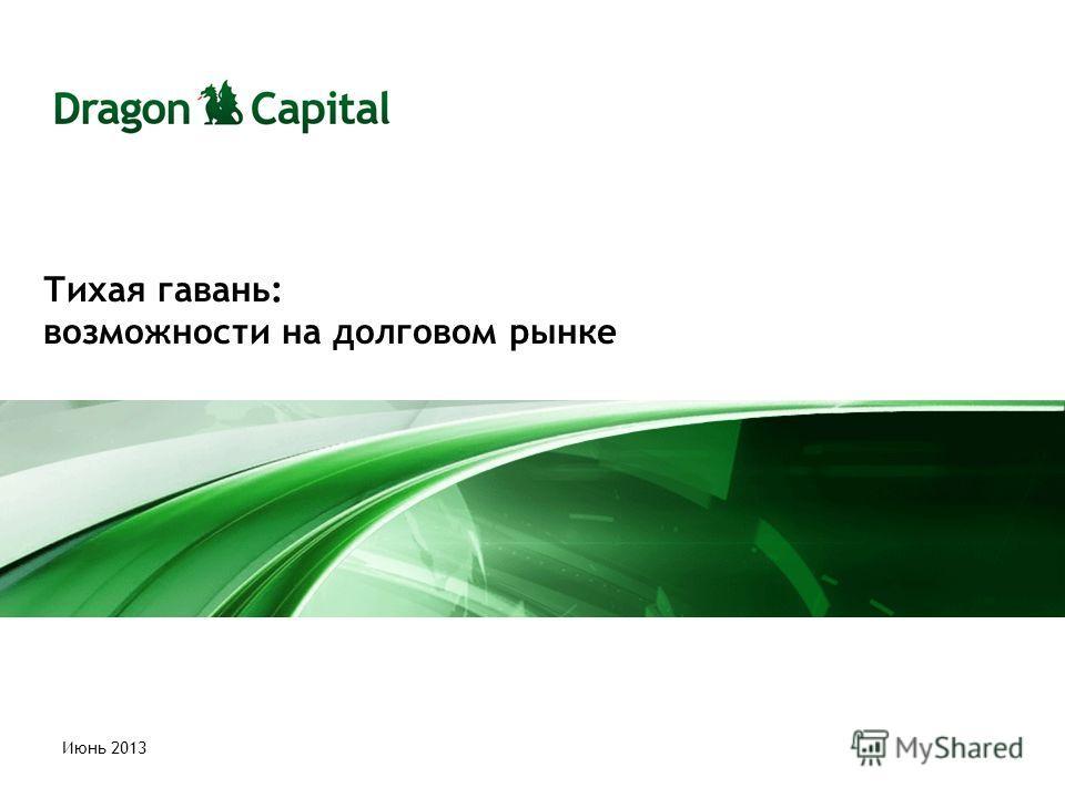 Тихая гавань: возможности на долговом рынке Июнь 2013