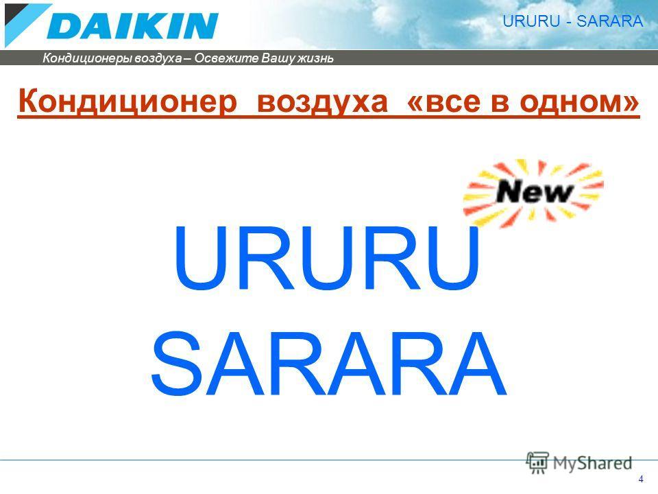 Кондиционеры воздуха – Освежите Вашу жизнь 4 URURU SARARA Кондиционер воздуха «все в одном» URURU - SARARA