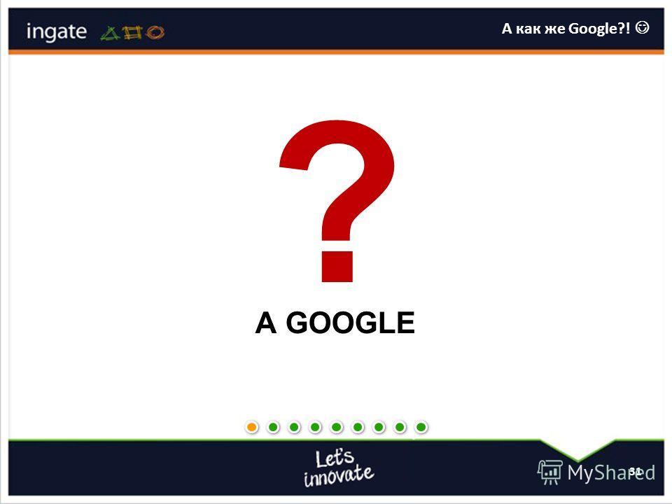 31 А как же Google?!