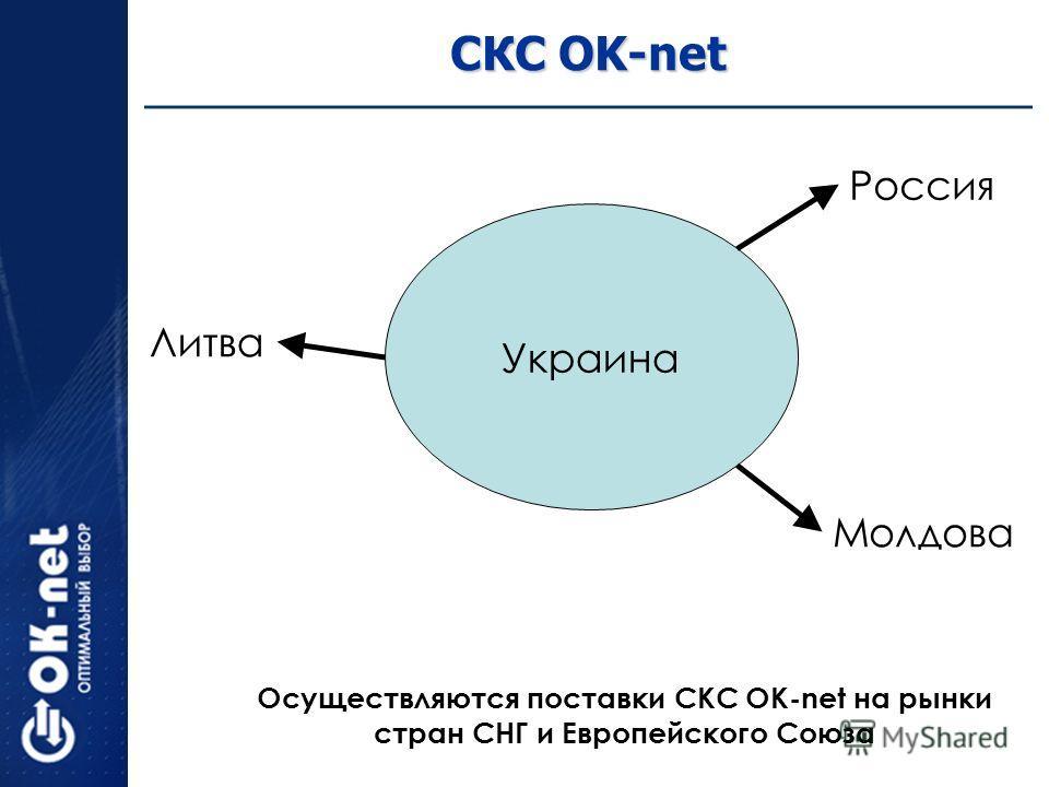 СКС OK-net Украина Литва Россия Молдова Осуществляются поставки СКС OK-net на рынки стран СНГ и Европейского Союза