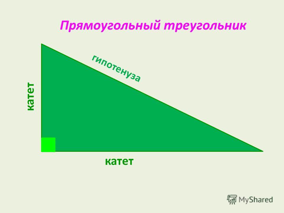 Прямоугольный треугольник гипотенуза катет
